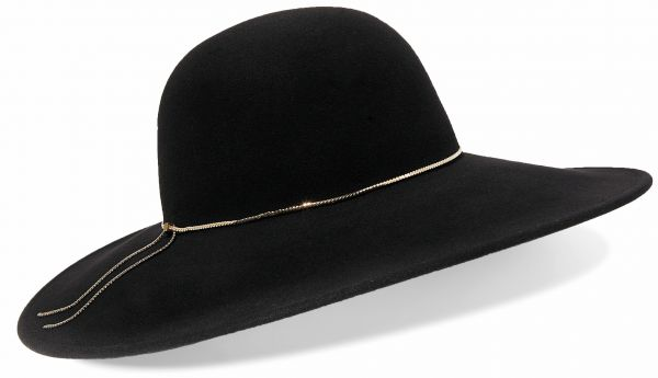 Eugenia Kim Honey chain-trimmed wool-felt hat - autumn