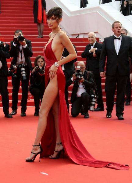 Bella Hadid Cannes AFP - red