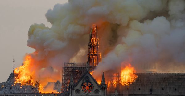 Thousands Watched in Tears as Fire Ravaged This Parisian Landmark