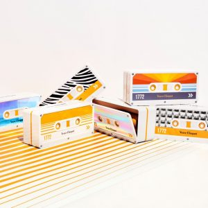 Go Retro With Veuve Clicquot's Colourful Audio Cassette Tape Boxes